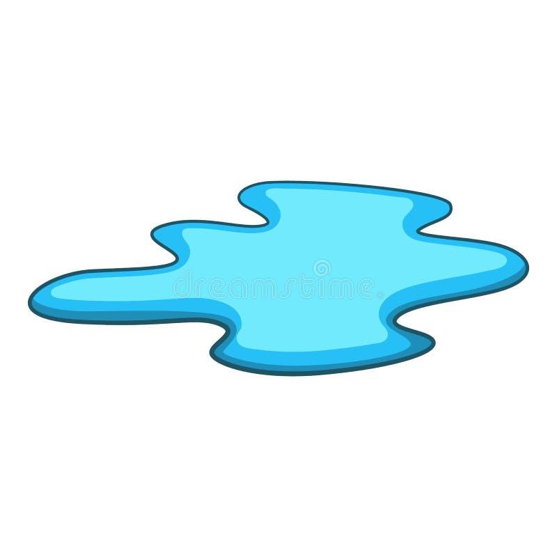 Vulklei van waterpictogram, beeldverhaalstijl vector illustratie