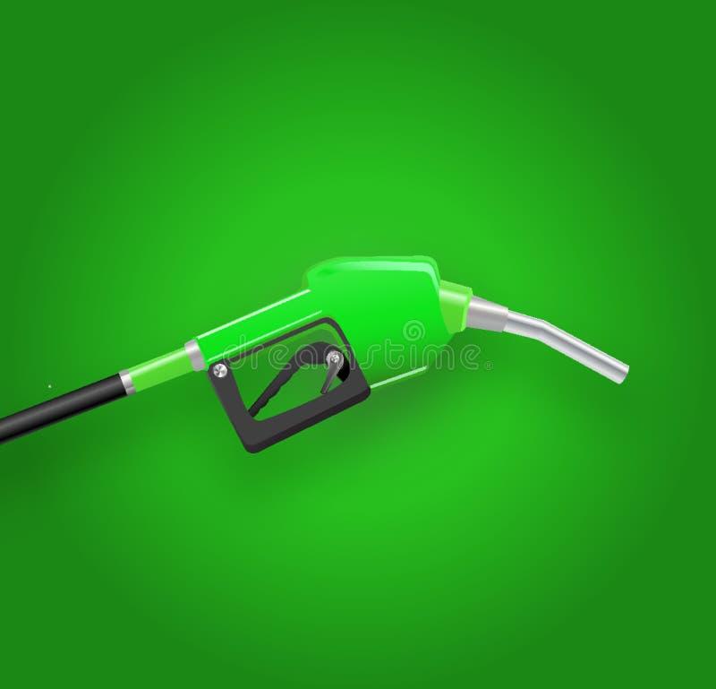vullend kanon geeft de gas bijtankende pijp, 3d benzinepomp terug Brandstof vectorillustratie stock illustratie