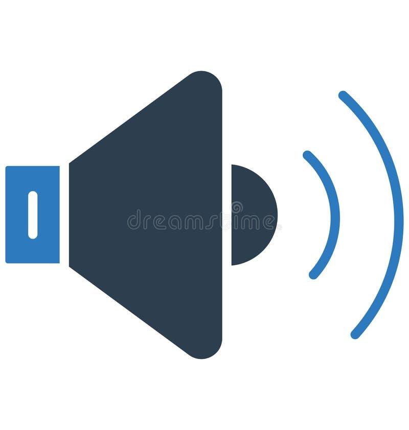 Vult de luidspreker Geïsoleerde Vector met Lijn en Pictogram vector illustratie