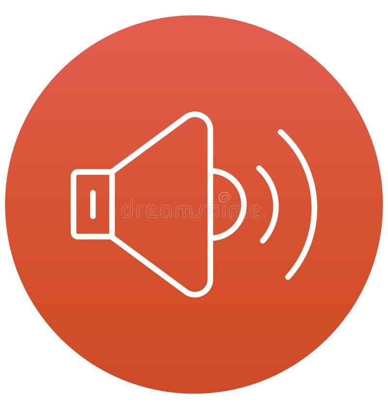 Vult de luidspreker Geïsoleerde Vector met Lijn en Pictogram royalty-vrije illustratie