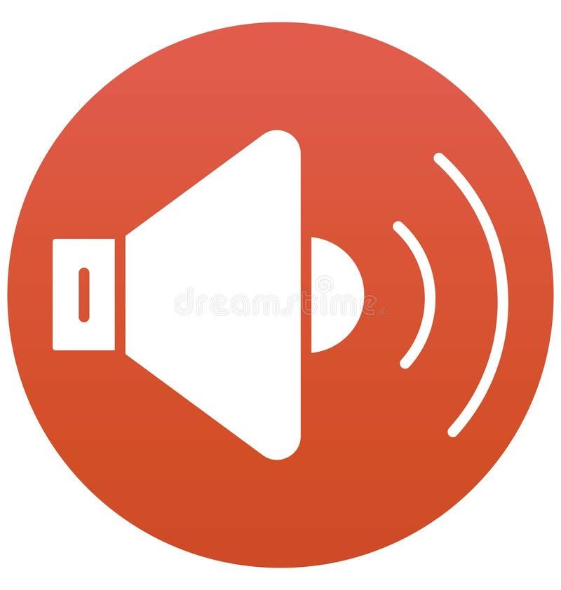 Vult de luidspreker Geïsoleerde Vector met Lijn en Pictogram stock illustratie
