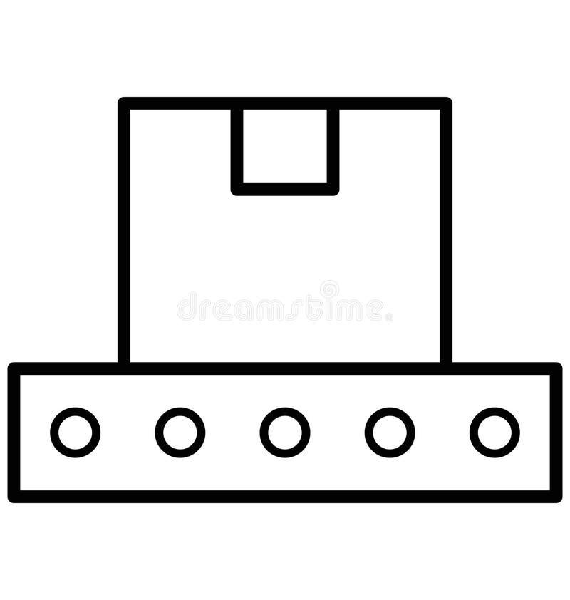 Vult de Transportband Geïsoleerde Vector met Lijn en Pictogram vector illustratie