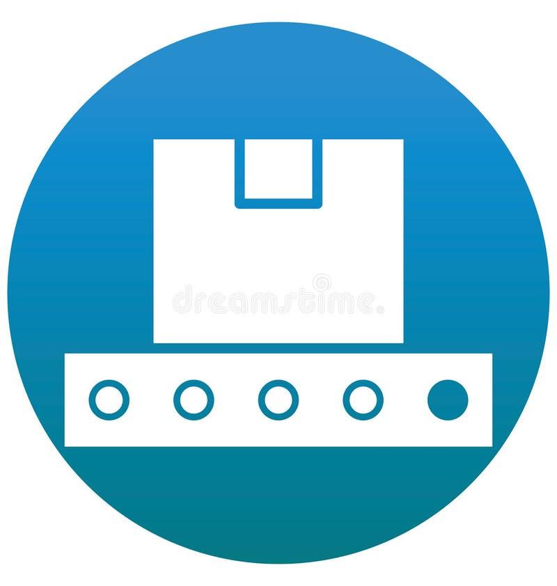 Vult de Transportband Geïsoleerde Vector met Lijn en Pictogram stock illustratie