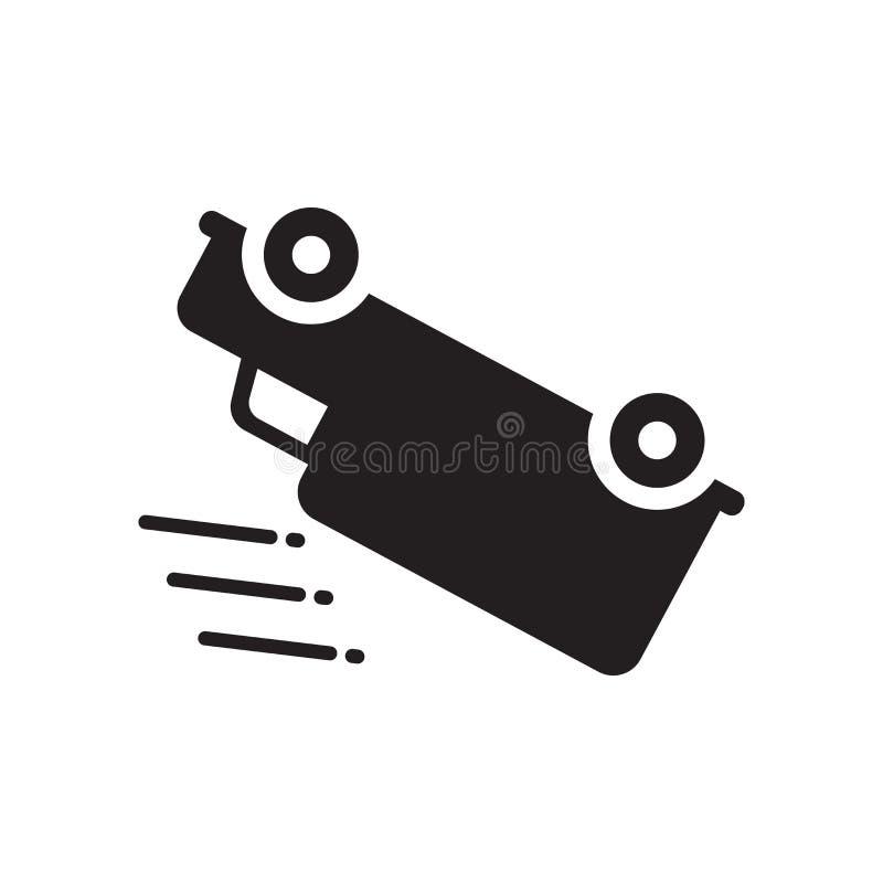 Vulten bilsymbol Moderiktigt vultit billogobegrepp på vit royaltyfri illustrationer