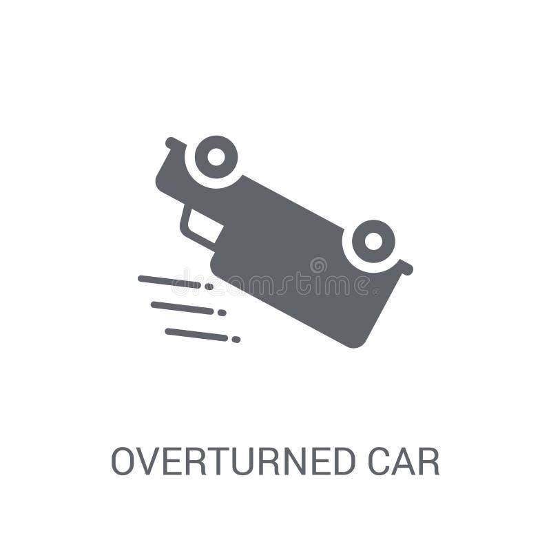 Vulten bilsymbol Moderiktigt vultit billogobegrepp på vit vektor illustrationer