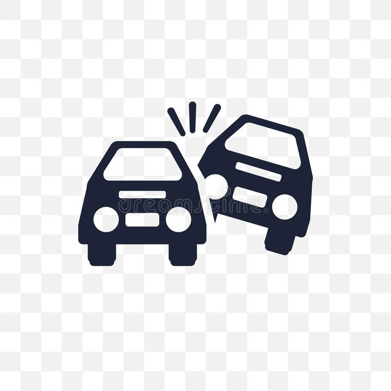 Vulten genomskinlig symbol för bil Vulten bilsymboldesign fr stock illustrationer