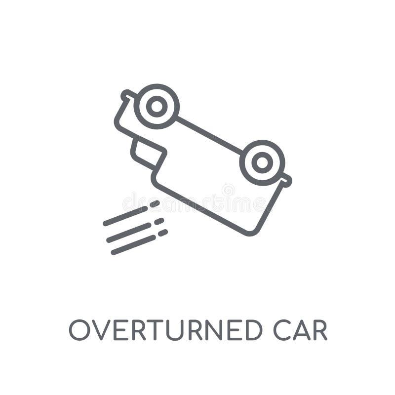 Vulten linjär symbol för bil Modern översikt vulten billogo c royaltyfri illustrationer