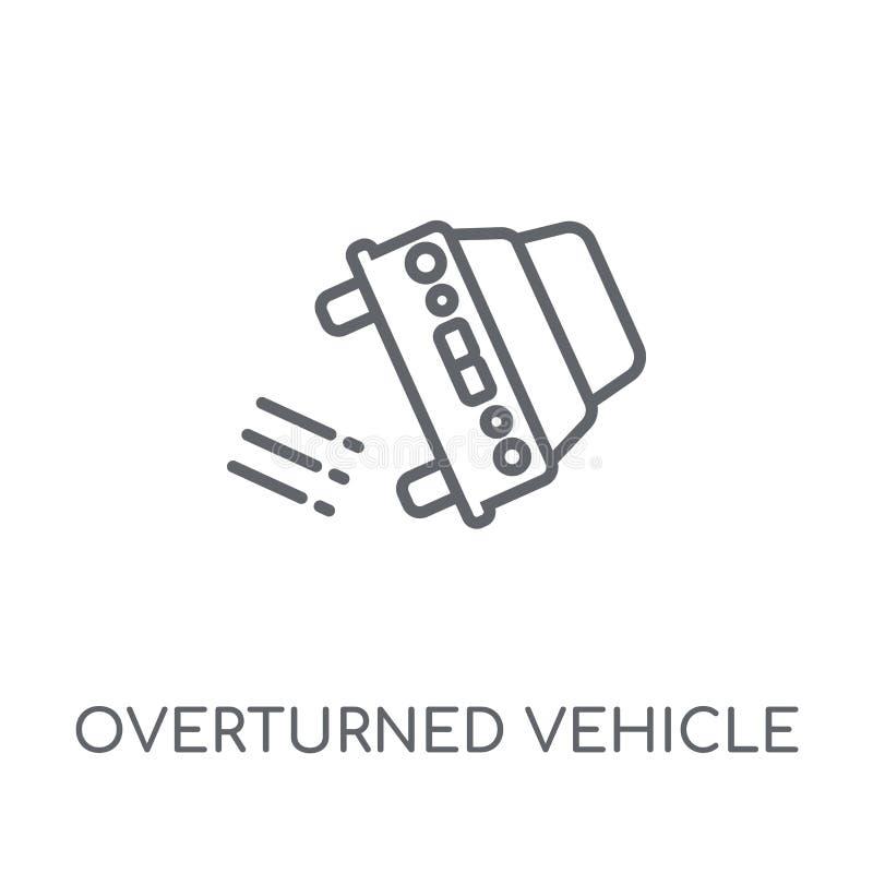 Vulten linjär symbol för medel Den moderna översikten valt vehicl royaltyfri illustrationer