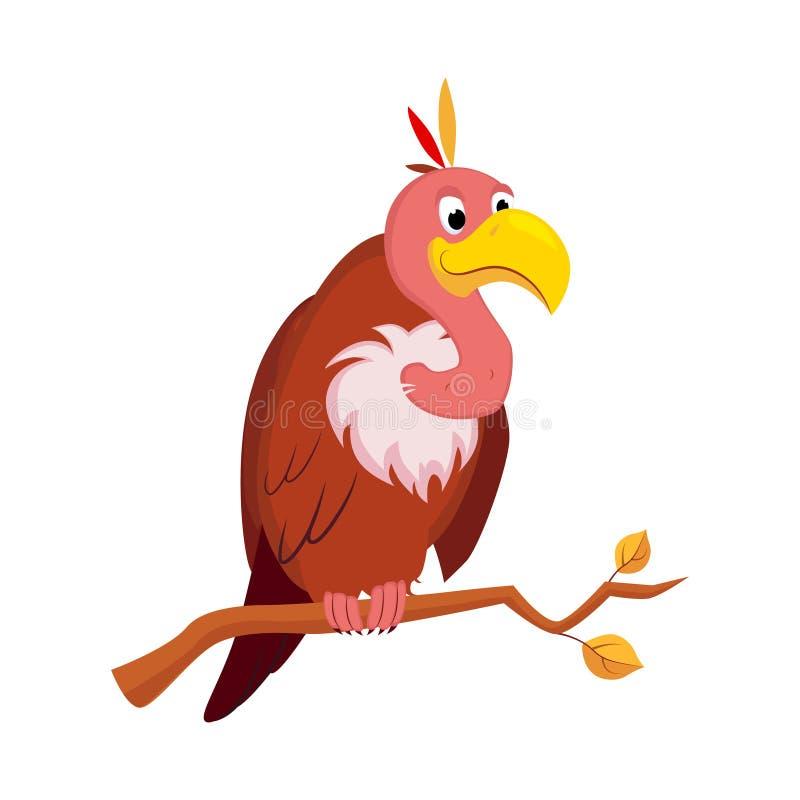 Vulture. Funny Alphabet, Animal Vector Illustration. Vulture. Funny Alphabet, Colourful Animal Vector Illustration vector illustration