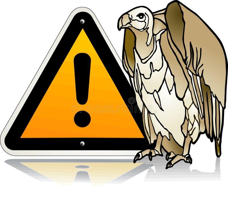 Download Vulture warning stock vector. Image of beware, sign, vulture - 11063138