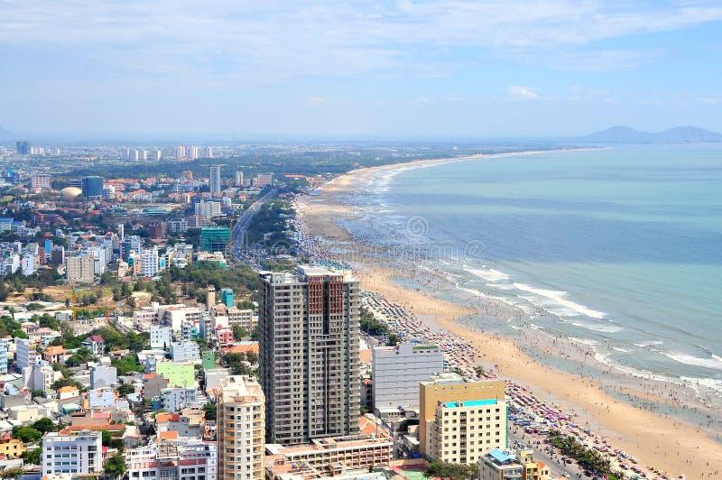 Ciudad y costa, Vietnam de Vung Tau imagenes de archivo