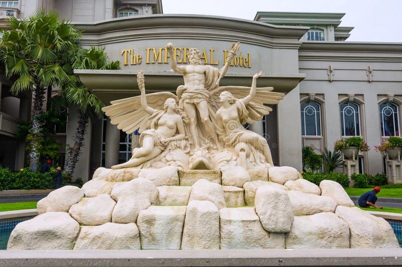 Vungtau, Vietnam - Januari 25, 2018: Luxueus vijfsterrenhotel Keizer stock afbeelding