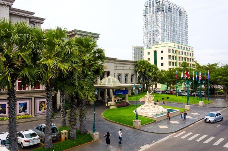 Vungtau, Vietnam - Januari 25, 2018: Luxueus vijfsterrenhotel Keizer stock fotografie