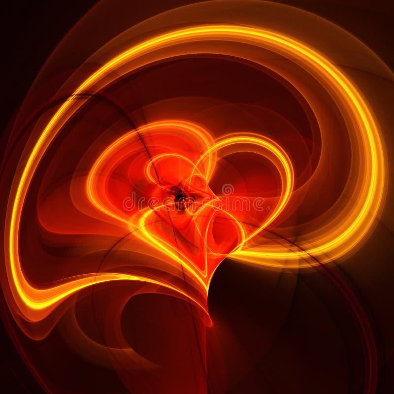 Vurig hart stock illustratie