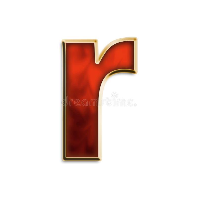 Vurig r in kleine letters royalty-vrije illustratie
