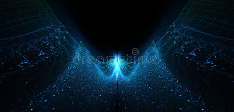 Vurige het vliegen het gloeien abstractie als het winden stock fotografie