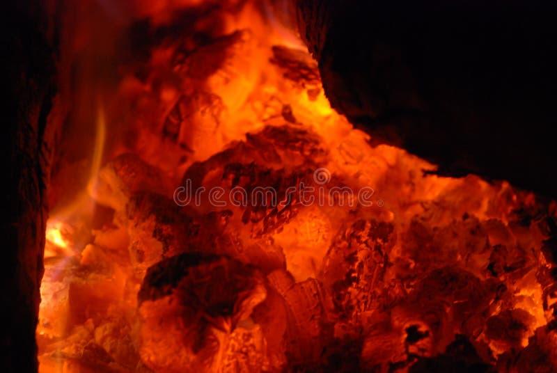 Vuur op seashore3 stock afbeelding