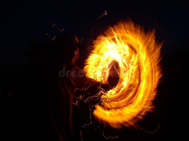 Vuurbolbrand stock fotografie