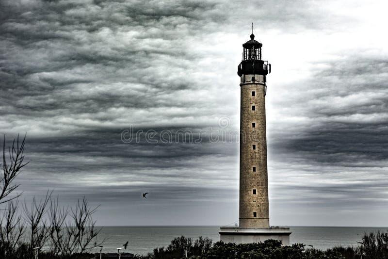 Vuurtoren - Biarritz - Frankrijk stock fotografie