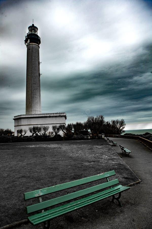 Vuurtoren - Biarritz - Frankrijk stock afbeeldingen