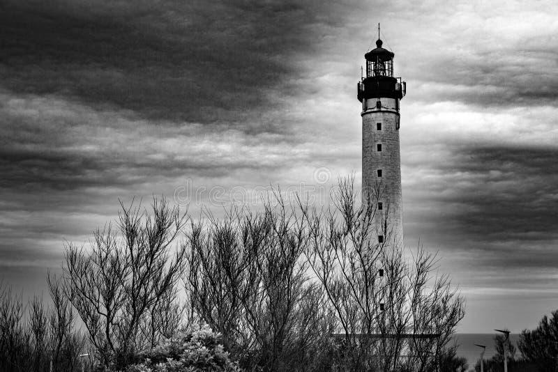 Vuurtoren - Biarritz - Frankrijk stock foto's