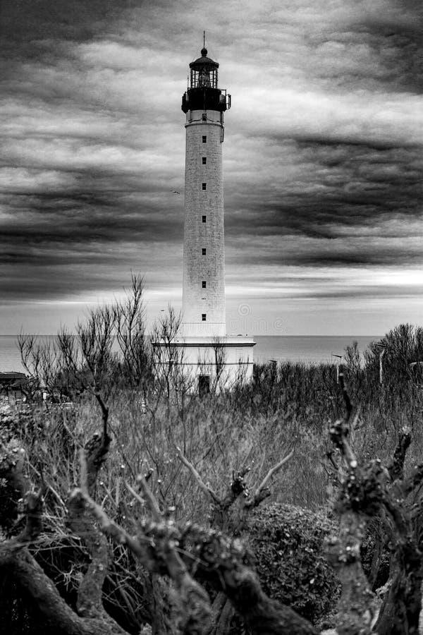 Vuurtoren - Biarritz - Frankrijk stock afbeelding