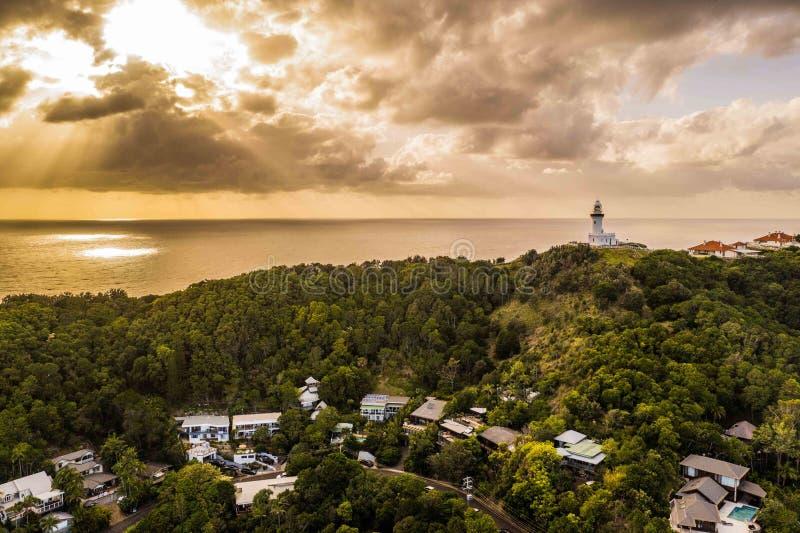 Vuurtoren, Byron Bay stock afbeeldingen