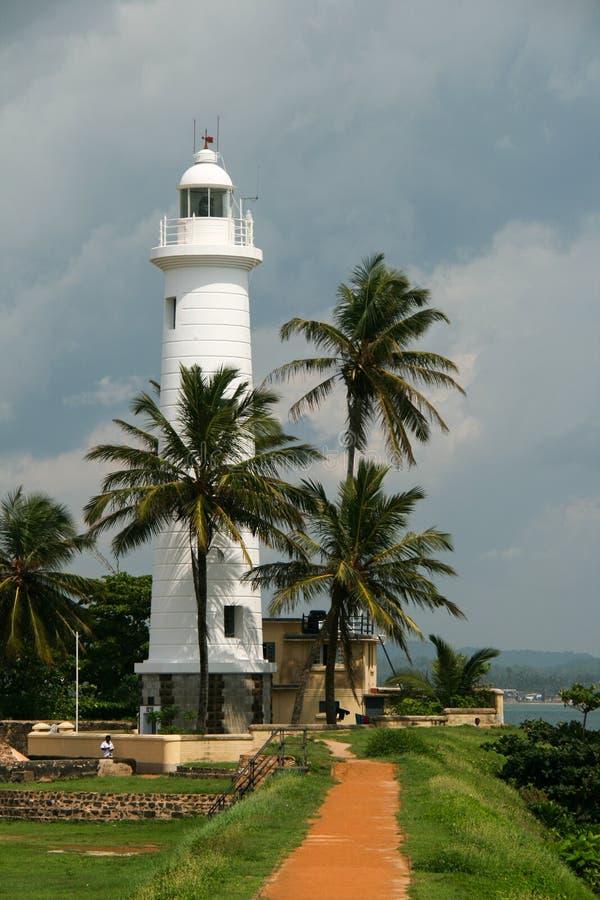 Vuurtoren in Galle - Sri Lanka royalty-vrije stock fotografie