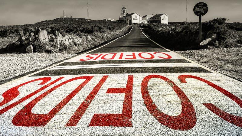 Vuurtoren Gr Faro Coruna, Spanje royalty-vrije stock foto