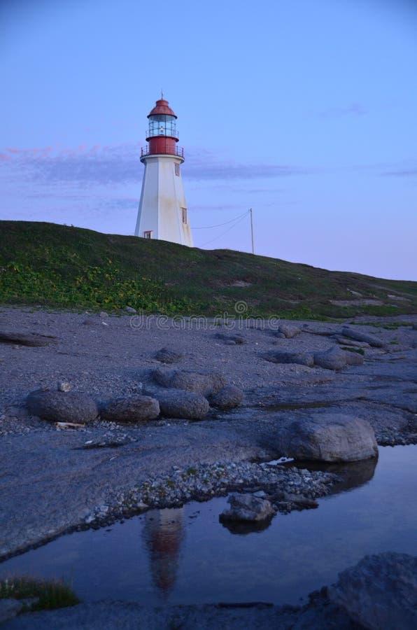 Vuurtoren, Haven aux Choix, NL royalty-vrije stock afbeelding