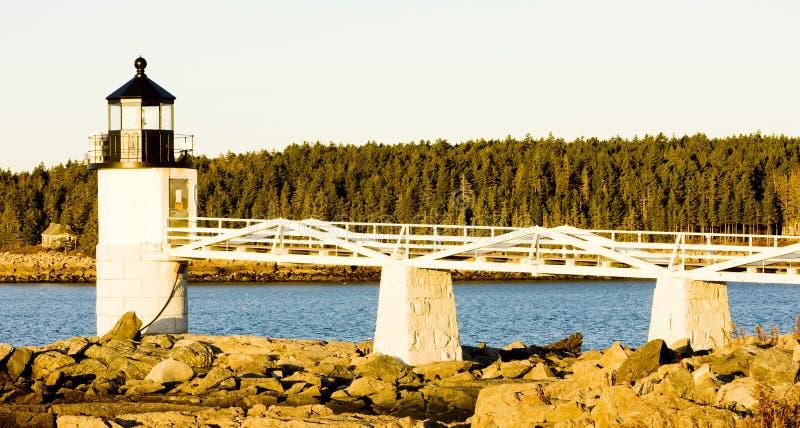 Vuurtoren in Maine royalty-vrije stock fotografie