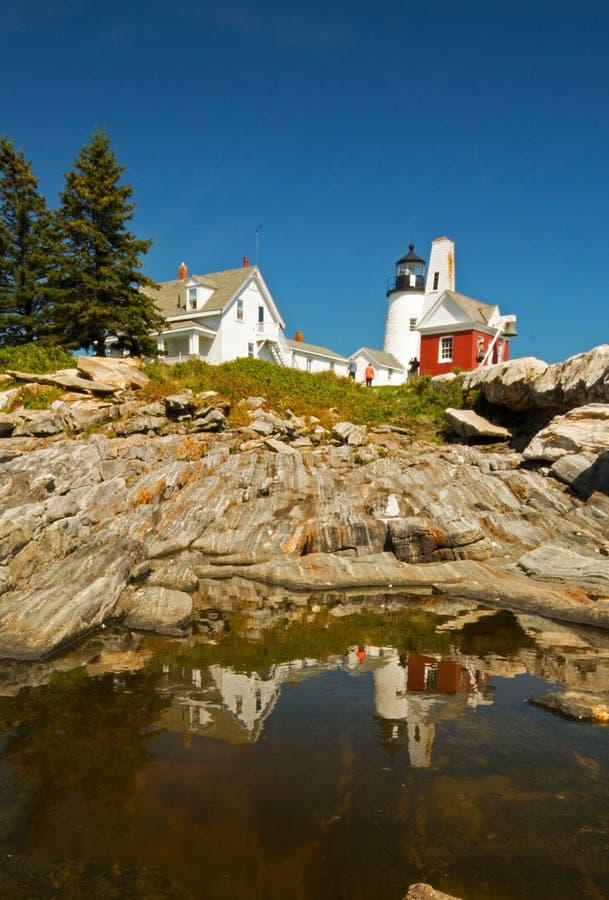 Vuurtoren Maine royalty-vrije stock fotografie