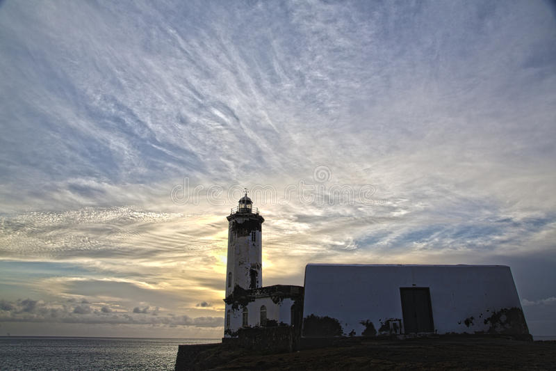Vuurtoren Maria Pia, Praia, Kaapverdië royalty-vrije stock foto