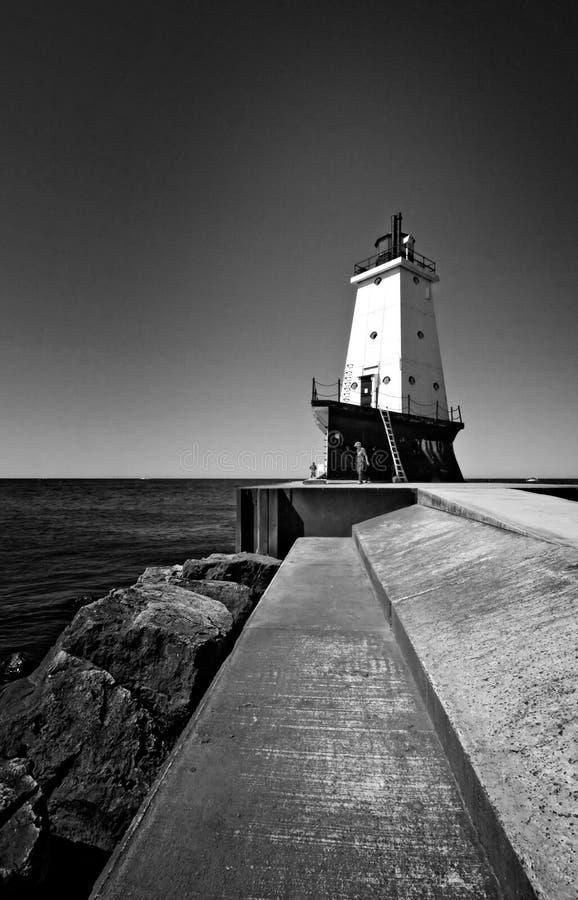 Vuurtoren Michigan royalty-vrije stock foto