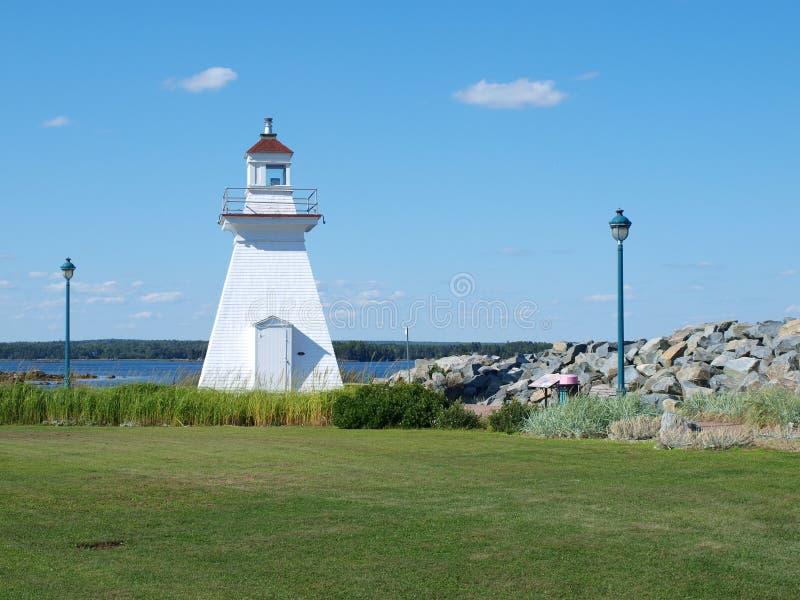 Vuurtoren, Nova Scotia, Canada royalty-vrije stock foto