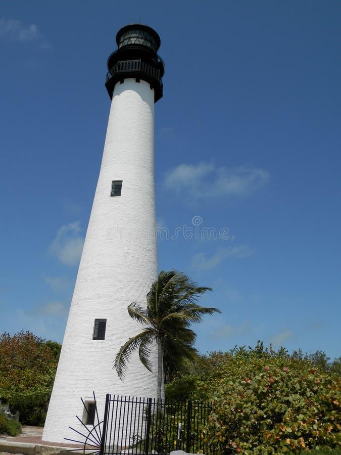 Vuurtoren op het Nationale Park van Biscayne, Miami, Florida royalty-vrije stock foto