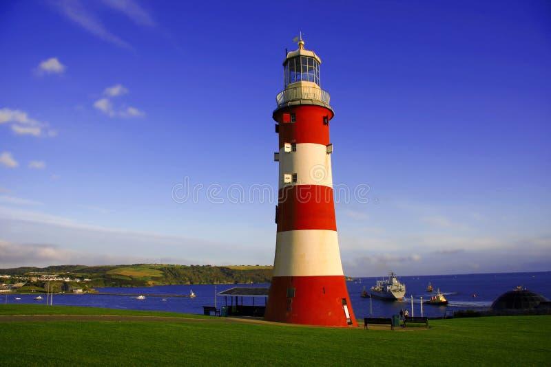 vuurtoren, Plymouth, het UK stock foto