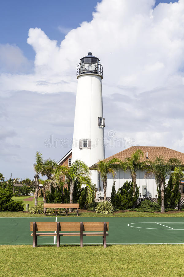 Vuurtoren St George Island dichtbij Apalachicola, Florida, de V.S. stock foto's