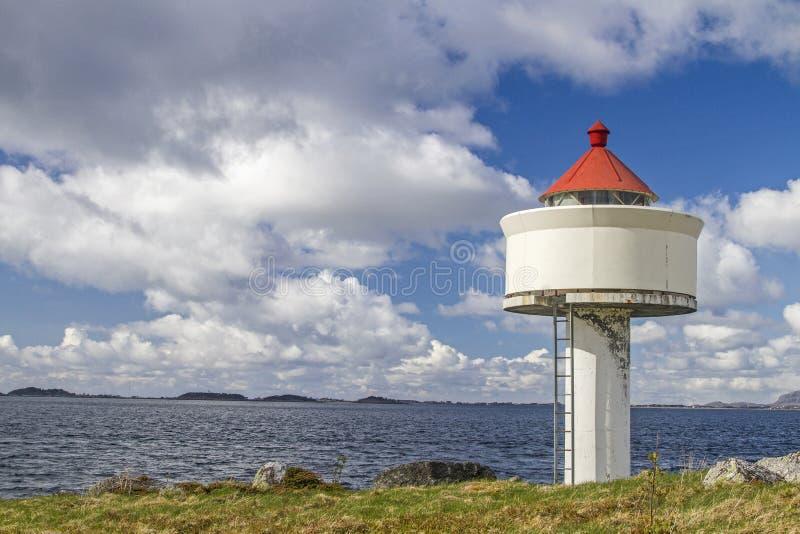 Vuurtoren in Trondheimsfjorden royalty-vrije stock foto's