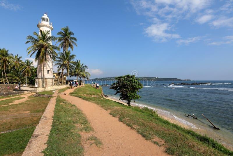 Vuurtoren van Galle in Sri Lanka stock foto's