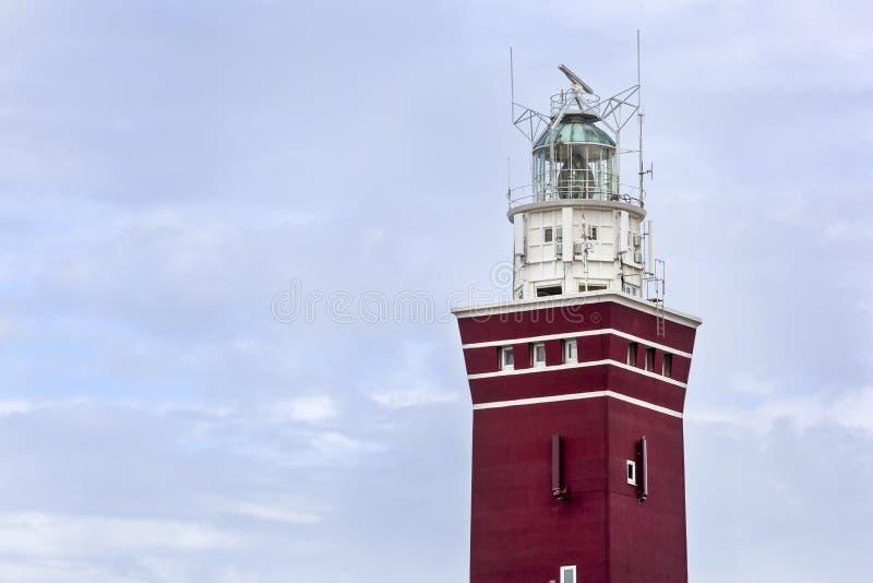 Vuurtoren van Ouddorp in Nederland stock foto's