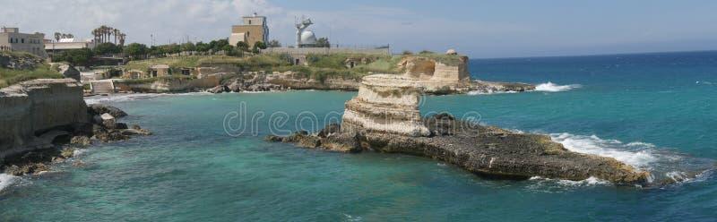 Vuurtoren van Torre Sant 'Andrea in Salento royalty-vrije stock foto