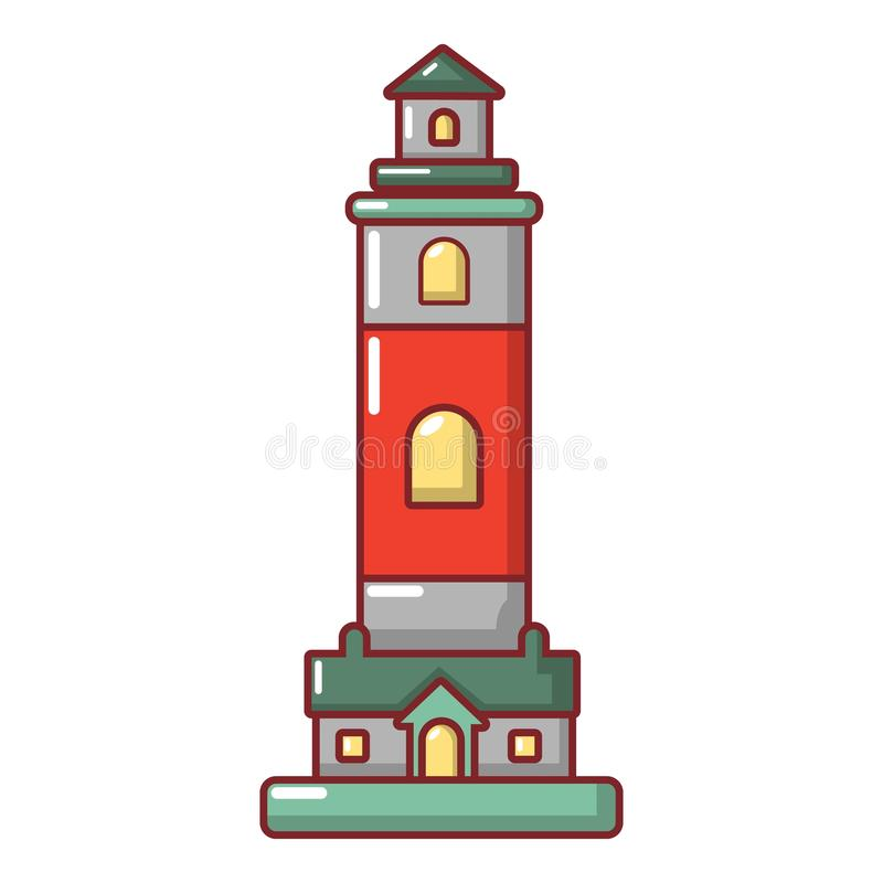 Download Vuurtorenpictogram, Beeldverhaalstijl Vector Illustratie - Illustratie bestaande uit richting, nacht: 107708000