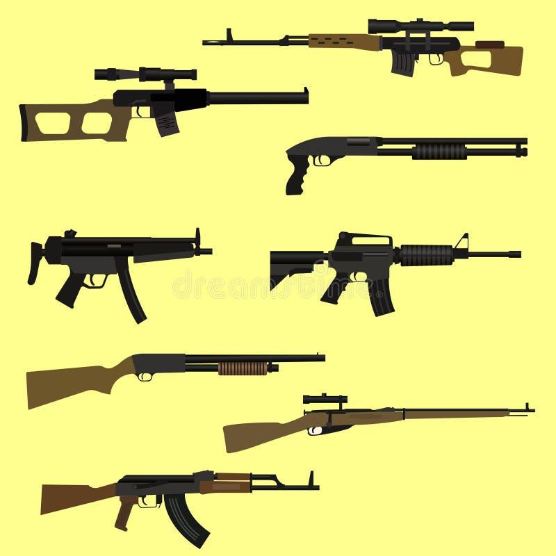 Vuurwapenreeks royalty-vrije illustratie