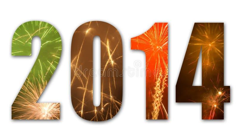 2014 vuurwerk stock illustratie