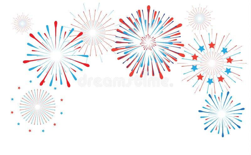 Vuurwerk vector illustratie