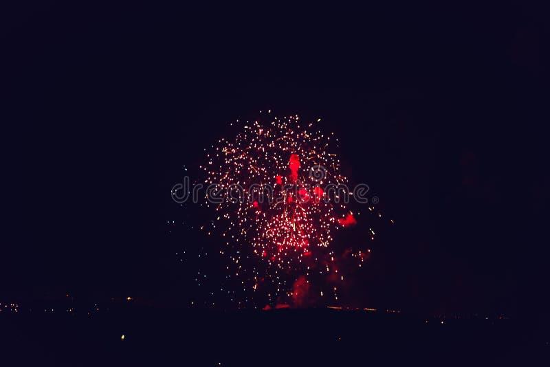 Vuurwerk bij Nieuwjaar stock foto