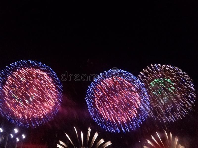 Vuurwerk in Cabo Frio royalty-vrije stock afbeelding