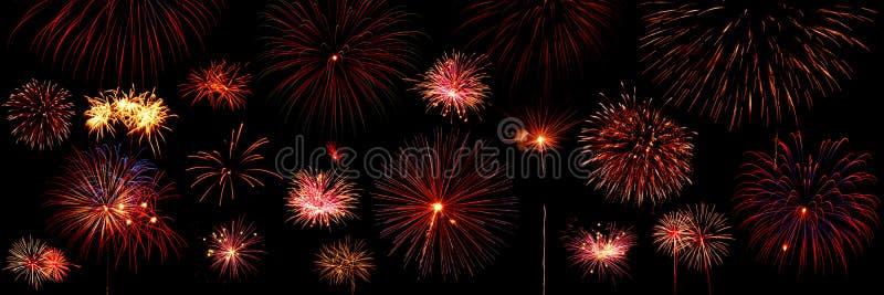 Vuurwerk dat in hemel exploderen stock fotografie
