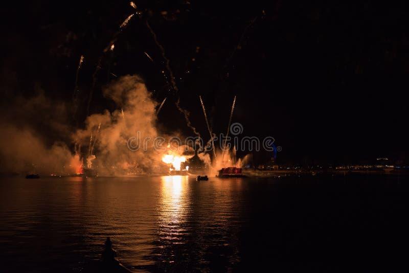 Vuurwerk in Epcot in Walt Disney World stock foto's